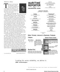 Maritime Reporter Magazine, page 6,  Jan 2001