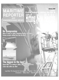 Maritime Reporter Magazine Cover Feb 2001 -