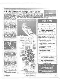 Maritime Reporter Magazine, page 21,  Feb 2001