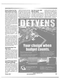 Maritime Reporter Magazine, page 37,  Feb 2001