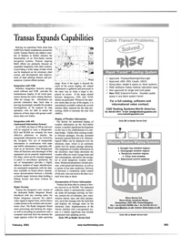Maritime Reporter Magazine, page 43,  Feb 2001 tional software