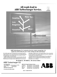 Maritime Reporter Magazine, page 50,  Feb 2001 ABB Turbocharger Service