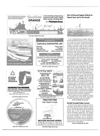 Maritime Reporter Magazine, page 3rd Cover,  Feb 2001 satellite navigation system