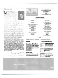 Maritime Reporter Magazine, page 6,  Feb 2001