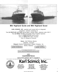 Maritime Reporter Magazine, page 4th Cover,  Mar 2001