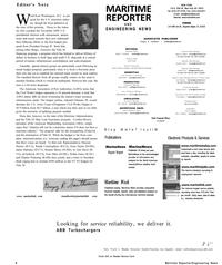 Maritime Reporter Magazine, page 6,  Mar 2001