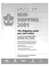 Maritime Reporter Magazine, page 2nd Cover,  Apr 2001 Sjolyst Exhibition Centre
