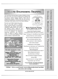 Maritime Reporter Magazine, page 1,  Apr 2001 USMMA Global Maritime and Transportation School