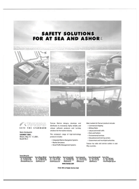 Maritime Reporter Magazine, page 63,  Apr 2001 SAFETY SOLUTIONS FOR AT SEA AND ASHOR SETS THE STANDARD Next checkpoint