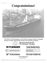 Maritime Reporter Magazine, page 5,  Apr 2001 FLENDER SIEMENS WYOKOHAMA FOX FLUID POWER INC.