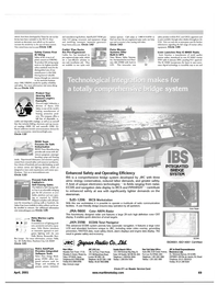 Maritime Reporter Magazine, page 69,  Apr 2001 nient digital technology