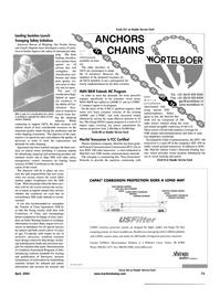 Maritime Reporter Magazine, page 4th Cover,  Apr 2001