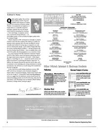 Maritime Reporter Magazine, page 6,  Apr 2001