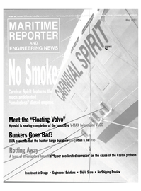 Maritime Reporter Magazine Cover May 2001 -