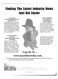 Maritime Reporter Magazine, page 3rd Cover,  May 2001