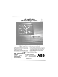 Maritime Reporter Magazine, page 25,  Jun 2001 ABB Turbocharger Service