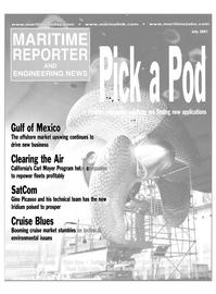 Maritime Reporter Magazine Cover Jul 2001 -