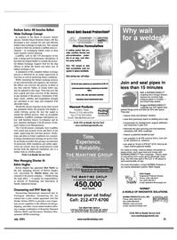 Maritime Reporter Magazine, page 21,  Jul 2001