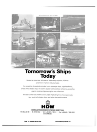 Maritime Reporter Magazine, page 58,  Jul 2001 HDW HOWALDTSWERKE-DEUTSCHE WERFT AG