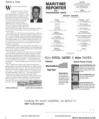 Maritime Reporter Magazine, page 8,  Aug 2001 Joe Trubinsky