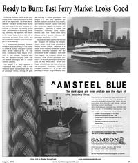 Maritime Reporter Magazine, page 29,  Aug 2001 Rick Nolan