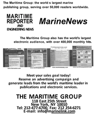 Maritime Reporter Magazine, page 44,  Aug 2001 electronic services