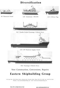 Maritime Reporter Magazine, page 53,  Aug 2001 Repairs Eastern Shipbuilding Group