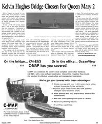 Maritime Reporter Magazine, page 55,  Aug 2001 Gerry Ellis