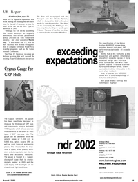 Maritime Reporter Magazine, page 65,  Aug 2001 Vermont