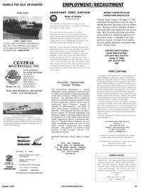 Maritime Reporter Magazine, page 77,  Aug 2001 Missouri