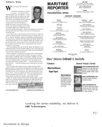 Maritime Reporter Magazine, page 6,  Aug 2001 David TinsJey