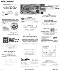 Maritime Reporter Magazine, page 82,  Aug 2001 Virginia