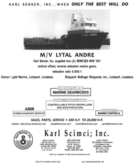 Maritime Reporter Magazine, page 4th Cover,  Aug 2001