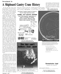 Maritime Reporter Magazine, page 9,  Sep 2001 Engine/Gear Systems LO-REZ SOFT MOUNT
