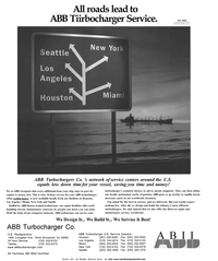 Maritime Reporter Magazine, page 36,  Sep 2001 ABB Tiirbocharger Service