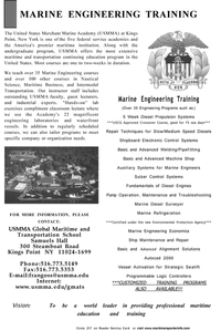 Maritime Reporter Magazine, page 3rd Cover,  Sep 2001 USMMA Global Maritime and Transportation School