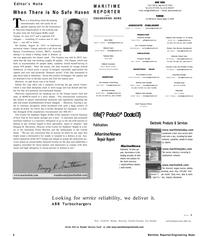 Maritime Reporter Magazine, page 6,  Sep 2001 Joe Trubinsky