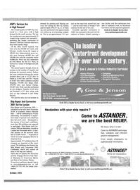 Maritime Reporter Magazine, page 23,  Oct 2001 Florida