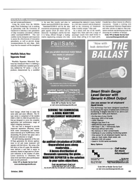 Maritime Reporter Magazine, page 43,  Oct 2001