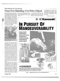 Maritime Reporter Magazine, page 25,  Nov 2001
