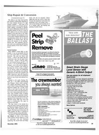 Maritime Reporter Magazine, page 29,  Nov 2001