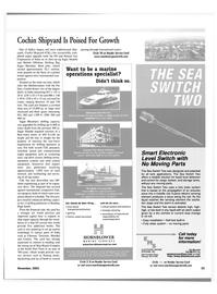 Maritime Reporter Magazine, page 33,  Nov 2001