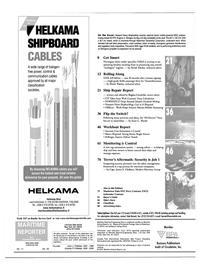 Maritime Reporter Magazine, page 2,  Nov 2001
