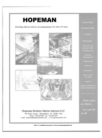 Maritime Reporter Magazine, page 53,  Nov 2001 85 Years Hopeman Brothers Marine Interiors LLC