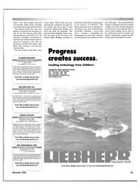 Maritime Reporter Magazine, page 55,  Nov 2001