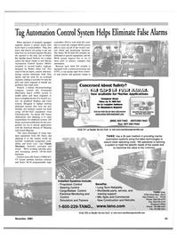 Maritime Reporter Magazine, page 61,  Nov 2001