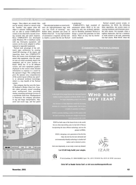 Maritime Reporter Magazine, page 63,  Nov 2001 actual ship equipment
