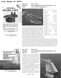 Maritime Reporter Magazine, page 36,  Dec 2001 Washington