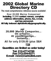 Maritime Reporter Magazine, page 38,  Dec 2001 Manitoba