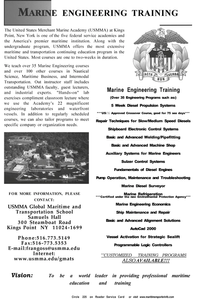 Maritime Reporter Magazine, page 3rd Cover,  Dec 2001 USMMA Global Maritime and Transportation School